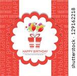 birthday card | Shutterstock .eps vector #129162218