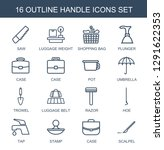 handle icons. trendy 16 handle... | Shutterstock .eps vector #1291622353