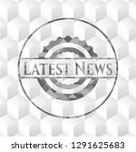 latest news grey emblem with... | Shutterstock .eps vector #1291625683