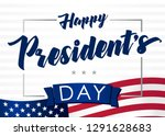 lettering presidents day... | Shutterstock .eps vector #1291628683
