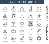 antique icons. trendy 25... | Shutterstock .eps vector #1291629223