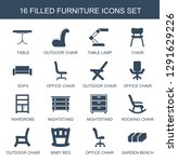 16 furniture icons. trendy... | Shutterstock .eps vector #1291629226