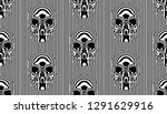 vector frontal striped skull... | Shutterstock .eps vector #1291629916