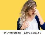 beautiful young blonde woman...   Shutterstock . vector #1291630159