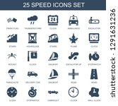 speed icons. trendy 25 speed... | Shutterstock .eps vector #1291631236