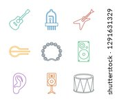 acoustic icons. trendy 9... | Shutterstock .eps vector #1291631329