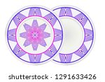 mandala circular abstract... | Shutterstock .eps vector #1291633426