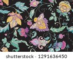 seamless pattern with stylized... | Shutterstock .eps vector #1291636450
