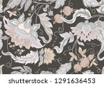 seamless pattern with stylized... | Shutterstock .eps vector #1291636453