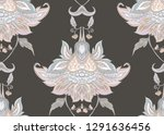 seamless pattern with stylized... | Shutterstock .eps vector #1291636456