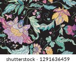 seamless pattern with stylized... | Shutterstock .eps vector #1291636459