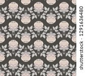 seamless pattern with stylized... | Shutterstock .eps vector #1291636480