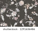 seamless pattern with stylized... | Shutterstock .eps vector #1291636486
