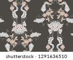 seamless pattern with stylized... | Shutterstock .eps vector #1291636510