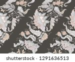 seamless pattern with stylized... | Shutterstock .eps vector #1291636513