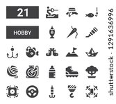hobby icon set. collection of... | Shutterstock .eps vector #1291636996