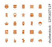 filled icon set. collection of... | Shutterstock .eps vector #1291637119