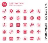 destination icon set.... | Shutterstock .eps vector #1291637176