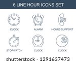 hour icons. trendy 6 hour icons.... | Shutterstock .eps vector #1291637473