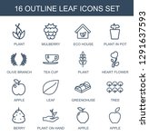 leaf icons. trendy 16 leaf... | Shutterstock .eps vector #1291637593