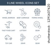 wheel icons. trendy 9 wheel... | Shutterstock .eps vector #1291637620