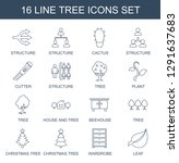 tree icons. trendy 16 tree... | Shutterstock .eps vector #1291637683