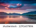 unbelievable summer sunset on... | Shutterstock . vector #1291637806