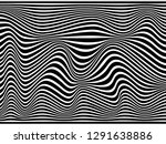 warped lines.black and white... | Shutterstock . vector #1291638886