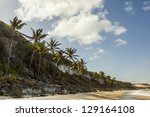 Paradise beach in Pipa, Rio Grande do Norte, Brazil. - stock photo