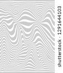 warped lines.wavy gray vertical ... | Shutterstock . vector #1291644103