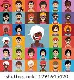 set of people avatars in flat... | Shutterstock .eps vector #1291645420
