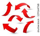 set of arrow stickers  vector... | Shutterstock .eps vector #129164768
