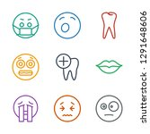 mouth icons. trendy 9 mouth... | Shutterstock .eps vector #1291648606