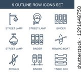 row icons. trendy 9 row icons.... | Shutterstock .eps vector #1291648750