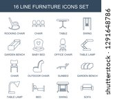 furniture icons. trendy 16... | Shutterstock .eps vector #1291648786