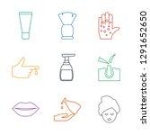 9 skin icons. trendy skin icons ... | Shutterstock .eps vector #1291652650