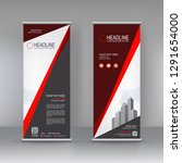 vertical banner stand template...   Shutterstock .eps vector #1291654000