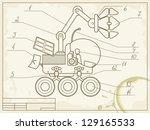 blueprint with the scheme of...   Shutterstock . vector #129165533
