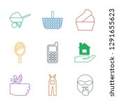 9 hand icons. trendy hand icons ... | Shutterstock .eps vector #1291655623