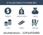 wealth icons. trendy 6 wealth... | Shutterstock .eps vector #1291655680