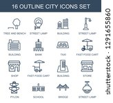 city icons. trendy 16 city... | Shutterstock .eps vector #1291655860