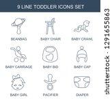 9 toddler icons. trendy toddler ... | Shutterstock .eps vector #1291655863