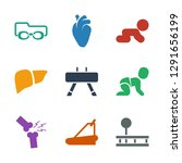 body icons. trendy 9 body icons.... | Shutterstock .eps vector #1291656199