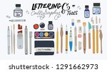 huge set of tools for hand... | Shutterstock .eps vector #1291662973