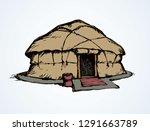 mobile urta yaranga covered...   Shutterstock .eps vector #1291663789