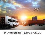 transportation  import export ... | Shutterstock . vector #1291672120