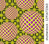 optical illusion of the... | Shutterstock .eps vector #1291672363