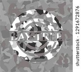 bay tree on grey camo texture | Shutterstock .eps vector #1291672876