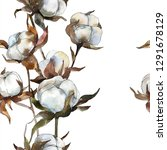 cotton floral botanical flower. ... | Shutterstock . vector #1291678129