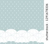 white umbrellas on gray with...   Shutterstock .eps vector #1291678336